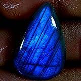 37.55CTS. 100% natural Blue Fire labradorite pera cabochon pietre preziose di alta qualità