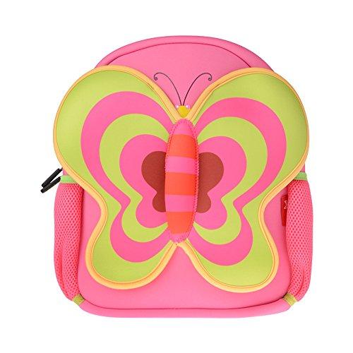 Mochila infantil, icci [Lindo] Mochila de niños niñas [viaje] [Escuela Primaria] [bolsas escolares], Lindo Mariposa Mochila - Rosa