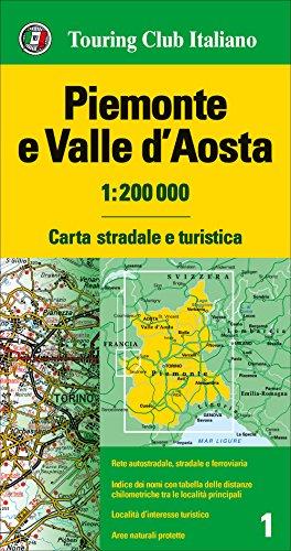 Piemonte e Valle d'Aosta 1:200.000 [Lingua inglese]