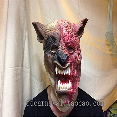 HITSAN INCORPORATION Halloween Party Animal Wolf Masks Masquerade Full Face Werewolf Mask Cosplay Festival Party Supplies Overhead mask