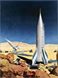 Canvas print 120 x 160 cm: Mars Mission, 1950s. by Chesley Bonestell/Granger Collection - ready-to-hang wall picture, stretched on canvas frame, printed image on pure canvas fabric, canvas print