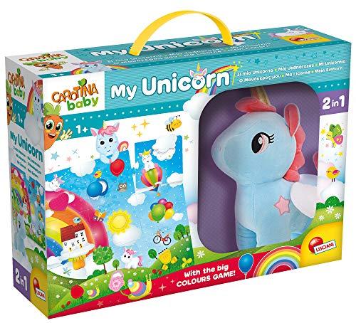 Lisciani Giochi - 76673 Gioco per Bambini Carotina Baby Unicorno Peluche Mega Puzzle