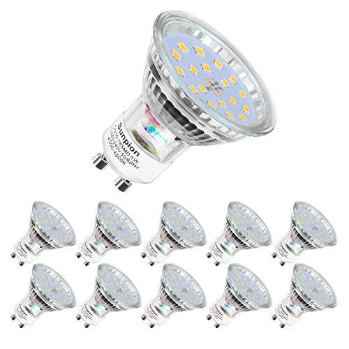 Lampadine LED GU10, 5Watt Pari ad alogene da 60Watt, 600 lumen, Luce Bianca Naturale 4500K, Angolo...