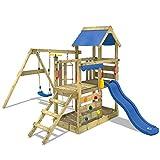 WICKEY Portique de jeux TurboFlyer Aire de jeux en bois avec toboggan