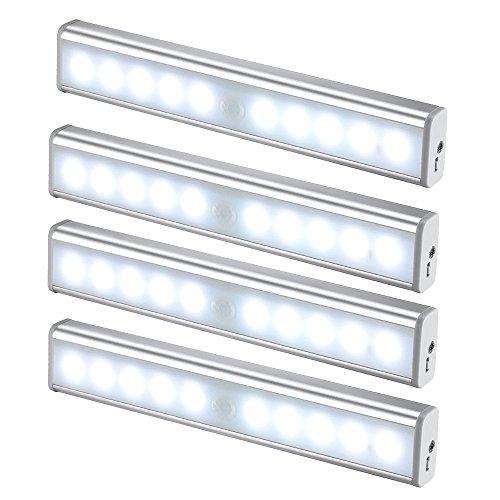 JESWELL LED del Sensore di Movimento Ricaricabile Luce con Interruttore, USB Luce Notturna Lampada...