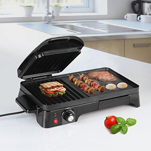 Panini Maker - Potenza 2200 W, Antiaderente, Nero - Tostiera, Pressa a Sandwich, Sandwich Maker,...