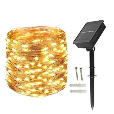 200 LEDs Guirlande Solaire 20M Guirlande Lumineuse étanche IP65, pour Mariages, Fêtes et Noël, éclairage de Noël