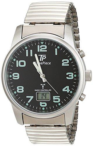 Time Piece Herren-Armbanduhr Funk Zugband Analog Quarz TPGA-10239-22M