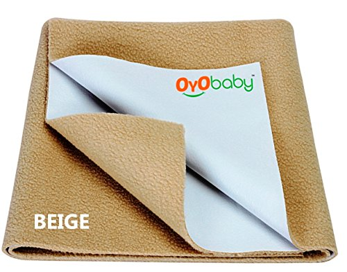 Oyo Baby Quickly Dry Super Soft Waterproof and Reusable Mattress Protector, Small, Beige