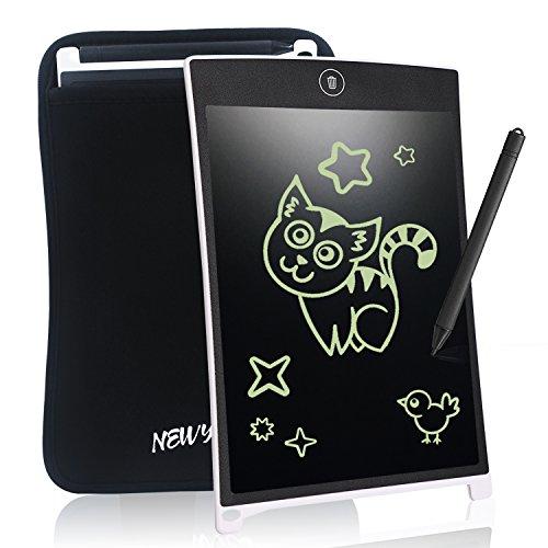 NEWYES Tablet da Scrittura LCD Portatile con Custodia, Lunghezza 8,5 Pollici, Vari Colori (Bianco +...
