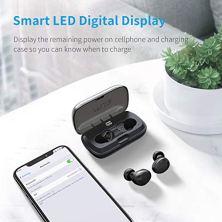 Muzili-Auriculares-Bluetooth-Inalmbricos-Bluetooth-50-CVC-80-Auriculares-Deportivos-con-Sonido-Estreo-Hi-Fi-Cancelacin-de-Ruido-y-Micrfono-Incorporado-para-iOS-Android