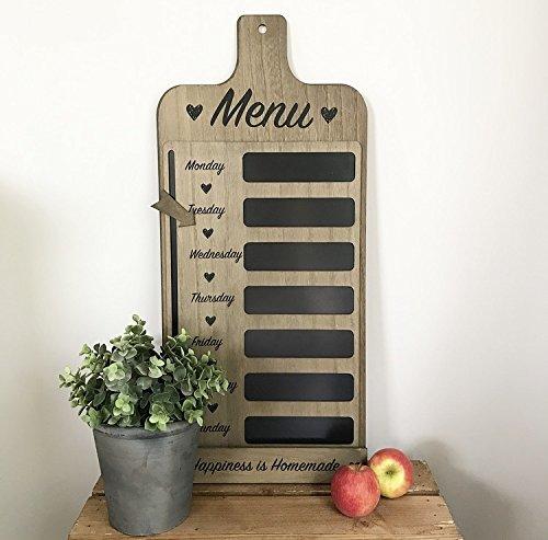 Lavagnetta con menù settimanale per la cucina, anche per avvisi o lista della spesa