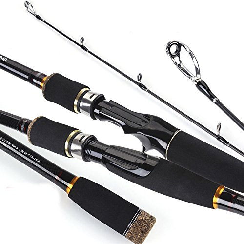 Pergamena Rate viaggio canna da pesca Spinning MH rigida 3/4sezione canna da pesca in fibra di carbonio Casting Pesce strumento, Gießen, 2.1m