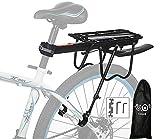 Portapacchi Bici, Alluminio Bici posteriore Rack bicicletta portapacchi ciclismo reggisella Rack Mountain Bike Cargo