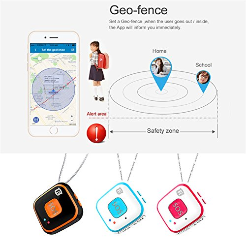 Micro Children GPS Tracker Necklace Mini the Elderly SOS Alarm Built-in  Antenna Real Time Tracking for Kids Baby Locator WIFI Personal SOS Pendant