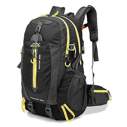 Lixada 40L Water Resistant Backpack, Portable Trekking Backpack, Laptop Daypack, Durable Waterproof, for Climbing, Travel, Outdoor Activities