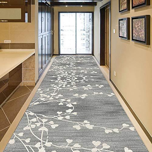 GuoWei-Tappeto per Lungo Ingresso Corridoio Tradizionale Piante Modello Mucchio Basso Stampa Termica...