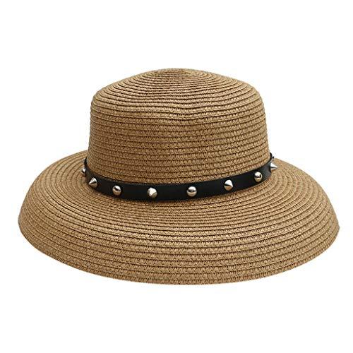 Sonnenhut Damen Sommerhut Shade UV Schutz Safari Hut Faltbarer Sonnenhut Elegant Damen Strohhut Schlaff Sommerhut