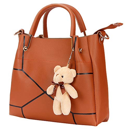 Bags Villa PU Leather Handbag and Wallet Sling Combo for Women and Girls Black (Brown)