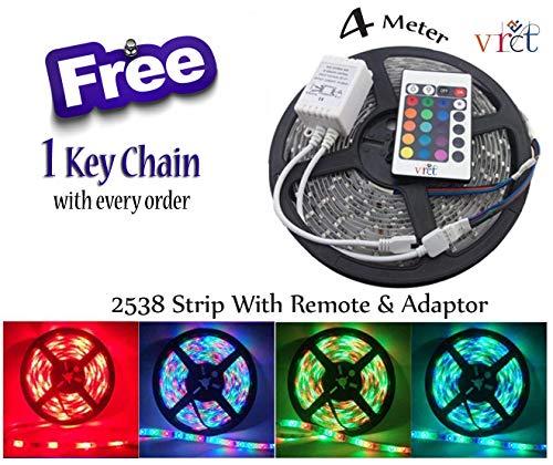 VRCT RGB Colour Changing Remote Control Plastic LED Strip Light (Multicolour)