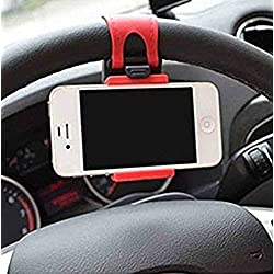 GKP Products ® 54-76mm Car Steering Wheel Mobile Holder (Multi-color) Model 410037