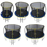 Zero Gravity Garten-Trampolin Ultima 4 für Kinder, mit Sicherheitsnetz und Leiter, blau/gelb, 305cm