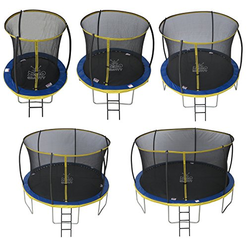 This trampoline has safety safety at the core of its design with features such as safety net, PVC padding and thick foam inside the padding. On top of it, it has EN71 certification. A unique single click system makes for easy assembly whilst a weldless design ensures over 2.5 million bounces.