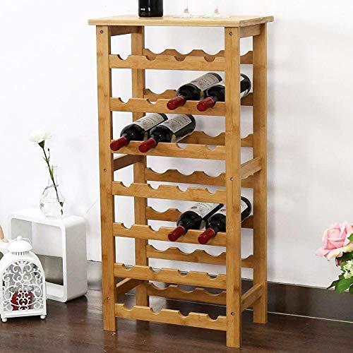 BAKAJI Cantinetta Porta Bottiglie Vino 28 Posti in Legno di bambù Portabottiglie Cantina Casa Bar...