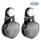 Outlet Wall Mount Stand Hanger for Google Home Mini Voice Assistants, Compact Holder Case Plug in Kitchen Bathroom Bedroom, Hides The Google Home Mini Cord (Negro - 2 Pack)