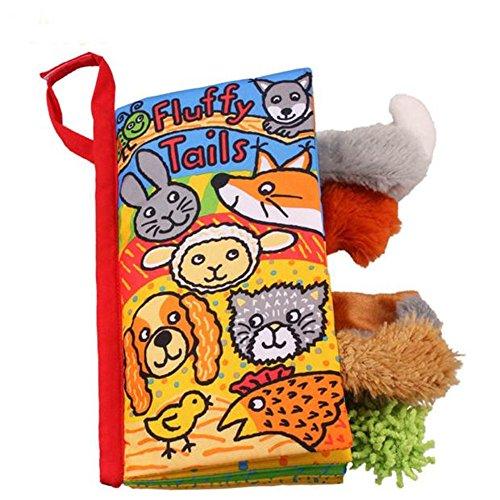 Zolimx, libro di stoffa con code di animali, gioco per bambini, libro per lo sviluppo...