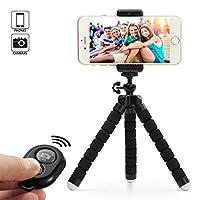 Specifica: Materiale: ABS+PC+Alluminio Colore: nero Altezza: 15~18 cm Peso netto: 0,1 KG Capacità di carico massima: 1,2 KG Supporta la larghezza dello smartphone: da 5,5 a 8,0 cm  Il pacchetto include:  1 x Treppiede per cellulare e fotocamera 1 x S...