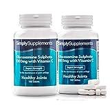 Glucosamina 1000mg con Vitamina C - Per la salute delle articolazioni - 360 compresse - 1 anno di trattamento - Simply Supplements