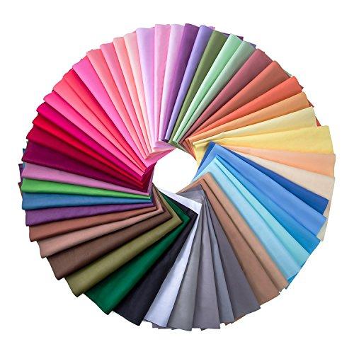 c748f4df82acde 50 Stück Mehrfarbig Stoff Patchwork Baumwolle Gemischte Quadratisch Bundle Nähen  Quilting Handwerk, 50 Farben (20 x 20 cm)