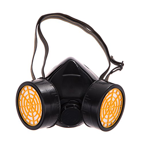 Bestvech Dual Gas Filter Anti-Dust Safety Paint Respirator Industrial Gas Chemical Safety Mask Goggles Set (No.2)
