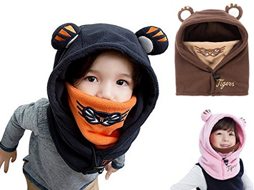 Winter Kids Child Cartoon Winter Thick Warm Animal Hooded Face Ski ... 6faa387c00d