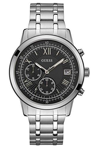 Guess Orologio Cronografo Quarzo Uomo con Cinturino in Acciaio Inox W1001G4