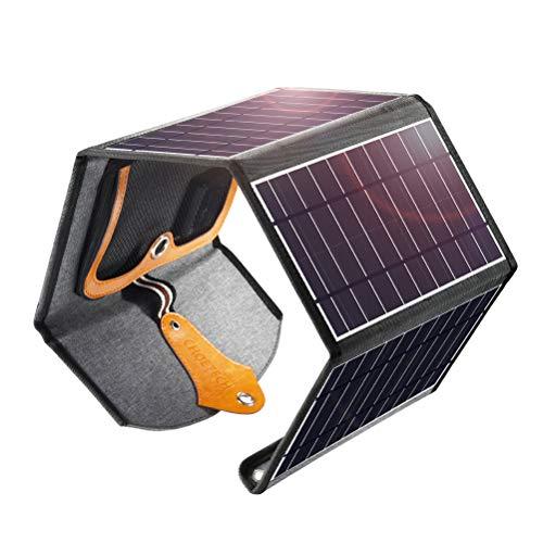 CHOETECH Caricabatterie Solare da 22W Pannelli Solari Portatili con 2 Porte USB (21.5-25%...