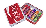 Lip Smacker Coffret Metal lata Plate con 6Bálsamo labial Coca-Cola aromas surtidos
