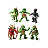 Teenage Mutant Hero Ninja Turtles PVC Action Figures Set 6 Pcs