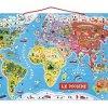 Janod – Puzzle di Legno Il Mondo Magnetico 92 Pezzi