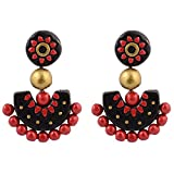 Avarna Terracotta Ear Ring with Stud SEC0006 Multi-Colour