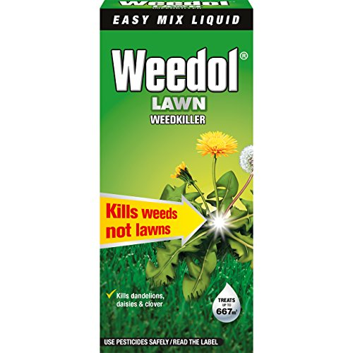 Best weedkiller for lawns - Our favourite choice when it comes to controlling weeds on a lawn, specially dandelions, daisies and clover but it also controls many more weeds and is super easy to apply with a sprayer.