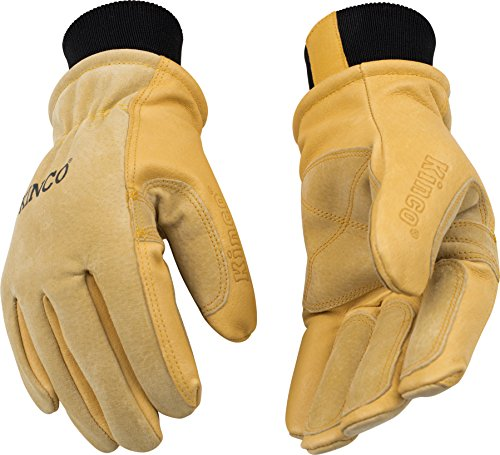 Kinco Pig pelle guanti da sci guanti, S, Gold, 1