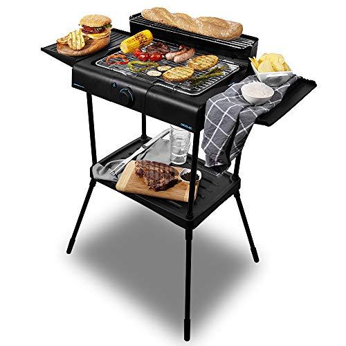 Cecotec Barbecue elettrico PerfectSteak 4250 supporto da 2400 W, griglia in acciaio inossidabile,...
