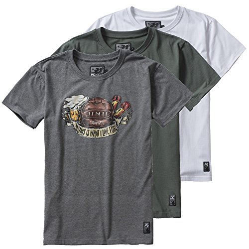 PG-Wear-T-Shirt-This-Is-What-I-Live-For-grau-wei-olive-S-XXXL