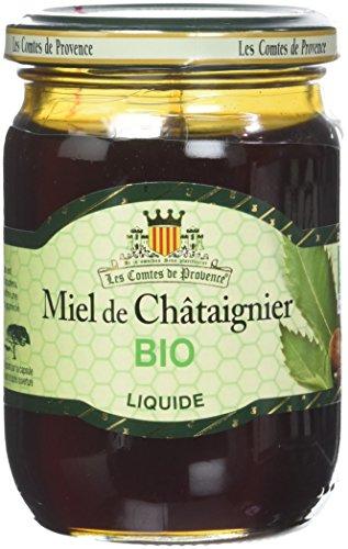 Les Comtes de Provence, Miel de Chataignier Liquide Bio, 330 g, (Lot de 3)