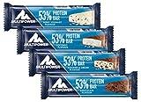 Multipower 53% Protein Bar - 24 x 50 g Proteinriegel Mix Box (1,2 kg) - 27 Gramm Protein pro Energieriegel - mit Eiweißriegeln in 4 Geschmacksrichtungen