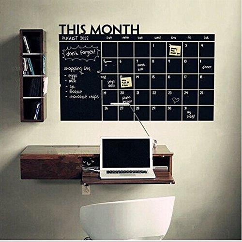 Zantec Lavagna con calendario mensile per pianificazioni, adesivo, calendario da parete,per la...