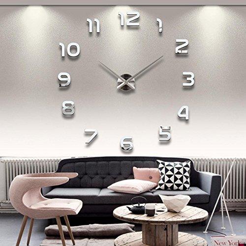 Lance Home Moderno fai da te grande parete 3D orologio con I Numeri arabi Murales Adesivi per Casa...