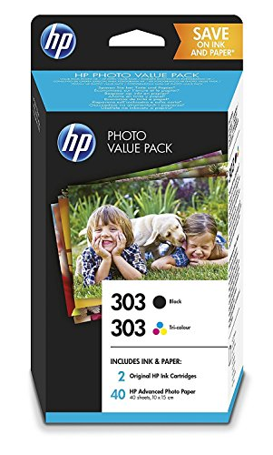 HP, set di cartucce originali 303, inchiostro nero e a colori, per HP Envy Photo 6230, 7100, 7130,...